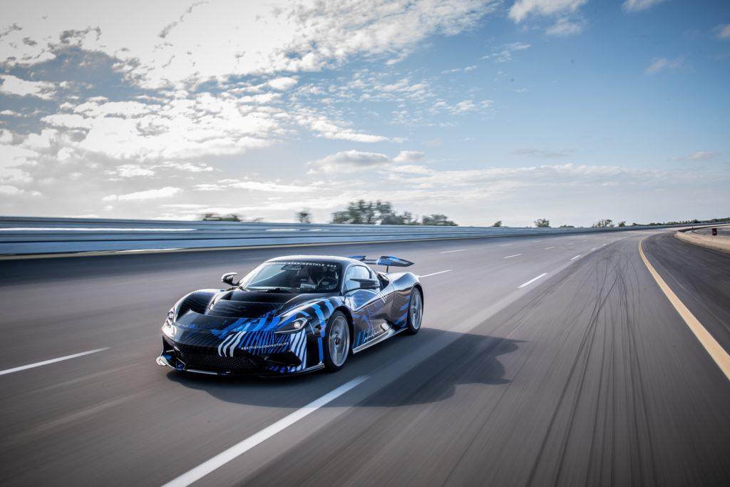 Battista Hypercar High-Speed Testing